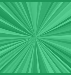 Green explosion background from radial stripes vector