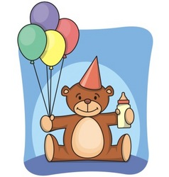 1st bearthday vector