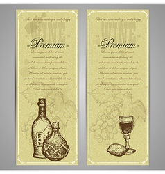 Premium food and drink menu vector