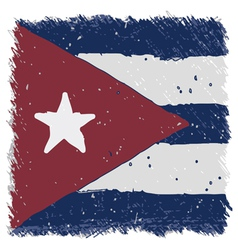 Flag of cuba handmade square shape vector