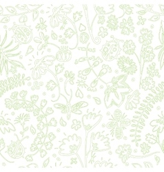 Seamless pattern with summer flowers vector