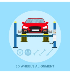 Wheels alignment vector