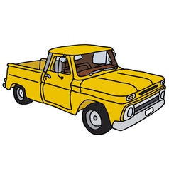 Old yellow pick-up vector