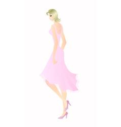 blonde vector image
