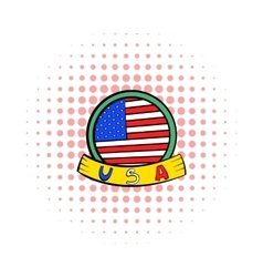 4th of july independence day badge icon vector