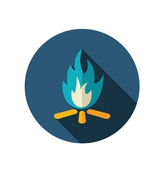 Bonfire flat icon summer vacation vector