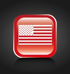 american button vector image