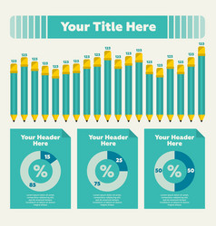 bar chart and pie chart vector image vector image