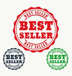 Best seller rubber stamp sign vector