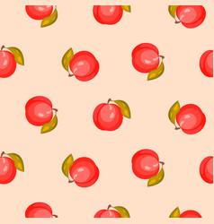 bright ripe peach fruit seamless pattern vector image vector image