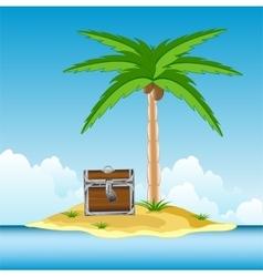 Coffer on island vector image