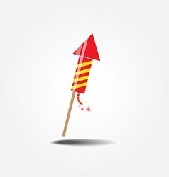 Color fireworks rocket vector
