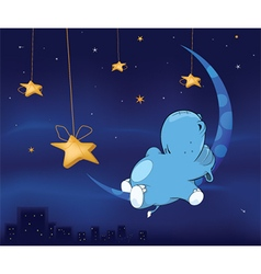 Fairy tale about hippo cartoon vector image vector image