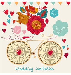 Floral Wedding Inviation vector image