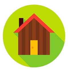Garden House Circle Icon vector image
