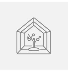 Greenhouse line icon vector image