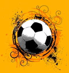 grunge soccer vector image vector image