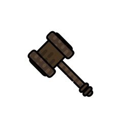 Law flat icon vector