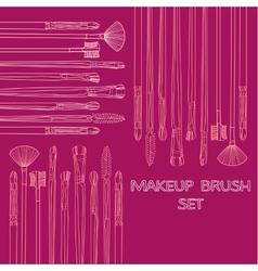 Makeup Brush Set vector image