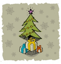 pine and gifts vector image vector image