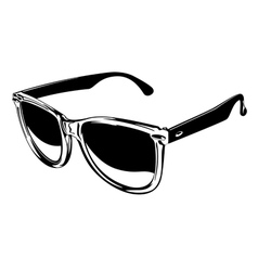 Plastic sunglasses vector
