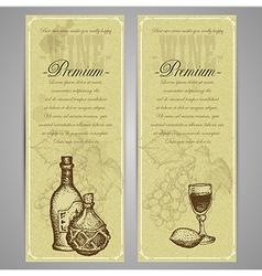 Premium food and drink menu vector