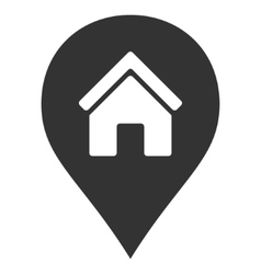 Realty map marker flat icon vector