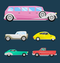 retro vintage old style car vehicle automobile vector image