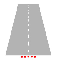 road icon color fill style vector image