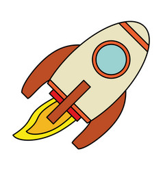 rocket launch spaceship technology vector image