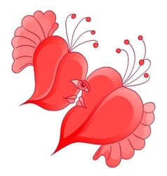 Romantic couple in love with abstract heart shaped vector image vector image