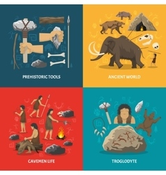 Stone age flat vector