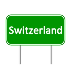 Switzerland road sign vector