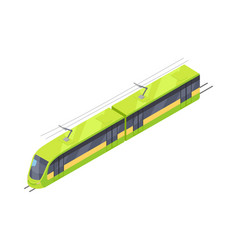 Tramway icon in isometric projection vector