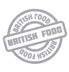 British food rubber stamp vector