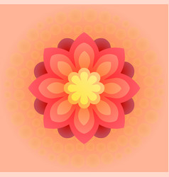 Beautiful colorful flower vector