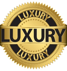 Luxury gold label vector