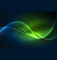 Smoky glowing waves in the dark vector