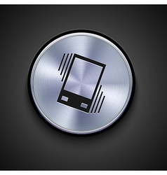Metal icon on gray background eps10 vector
