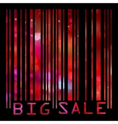 Colorful big sale bar code EPS 8 vector image