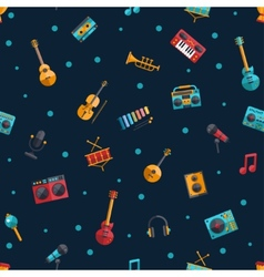 Modern flat design musical instruments and music vector