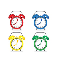 Set of alarm clocks vector