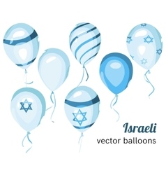 Flag of israel on balloon israeli balloons vector