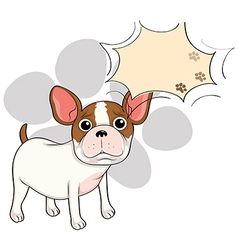 A sad bulldog with an empty callout vector image vector image