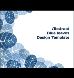 Abstract design template vector image vector image