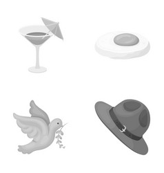 alcohol bird and other monochrome icon in cartoon vector image vector image