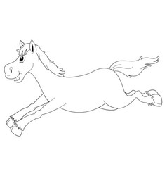 Animal outline for horse running vector