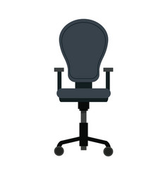 Armchair furniture office wheel seat vector
