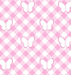 Baby girl background with tablecloth and vector image vector image