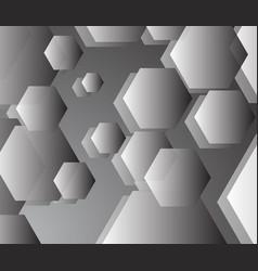 basic grey pentagon background in harmony vector image
